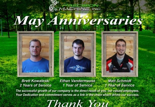 MAY ANNIVERSARIES