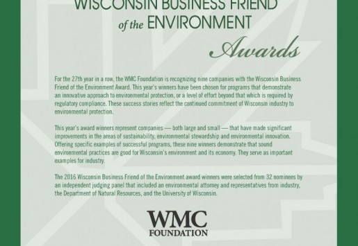 2016 Wisconsin Business Friend of the Environment Award